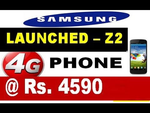 Samsung - Z2  launched @ Rs.4590/-  !!  4G smartphone with free Jio Sim 90 days offer