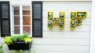 Shirley Bovshow's Diy Wall Monogram Planter
