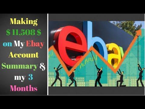 My Ebay Account Summary My 3 Months 11 508 185 Youtube