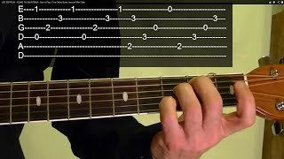 Guitar Lesson - METALLICA - Fade to Black - ( 1 of 3 )  With Printable Tabs