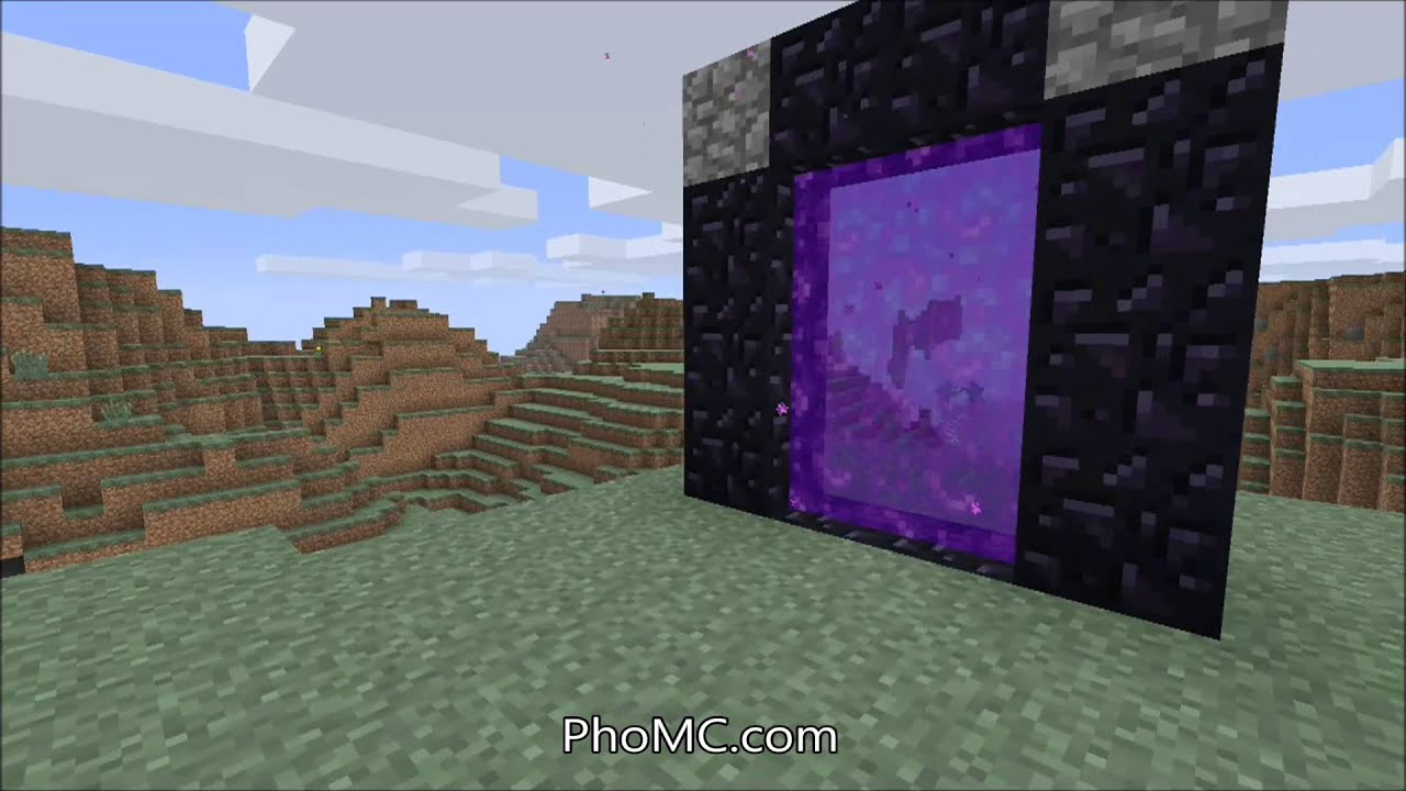 how to make a nether portal in minecraft xbox one