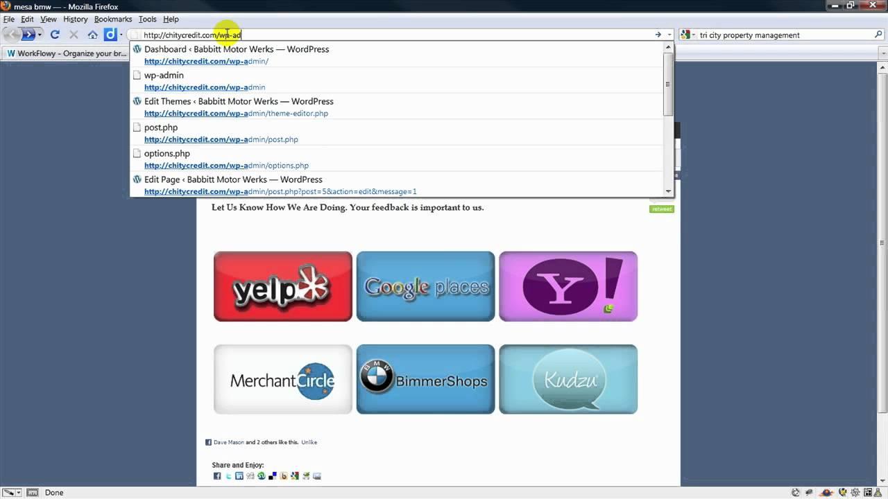 how do you log into wordpress