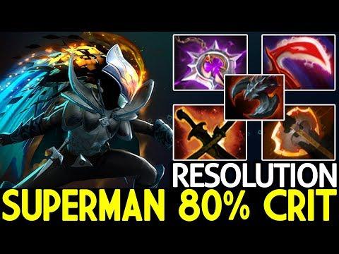 Resolution [Phantom Assassin] Superman 80% Crit Late Game Boss 7.21 Dota 2 thumbnail
