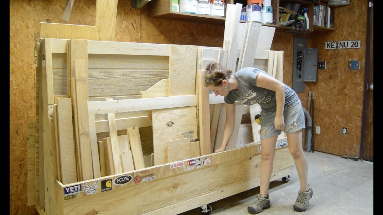 Rolling Lumber Rack - YouTube