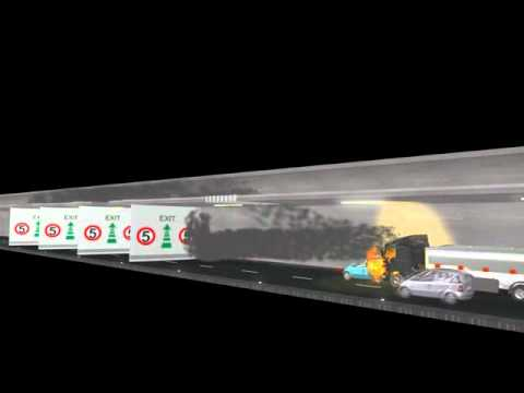 Safety for Road Tunnels: Simulation with Fire Curtains | Aigner Tunnel Technology GmbH