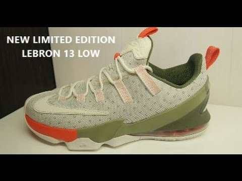 outlet store sale 699c2 56b14 Nike Lebron 13 Low Limited Edition Phantom Sneaker (Detailed Look) - YouTube