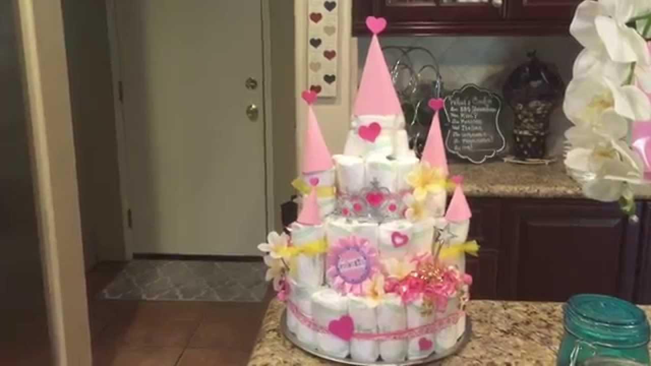 Castle Diaper Cake With Images Diaper Cake Castle Diaper