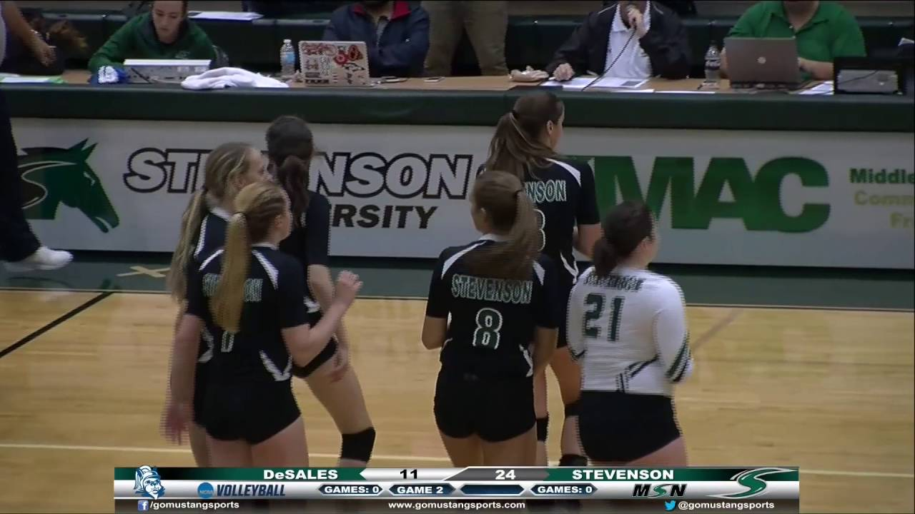 Women's Volleyball vs DeSales Highlights - YouTube