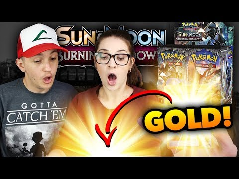 GOLD & FULL ART TRAINER in FIRST BOOSTER BOX?! Pokemon Burning Shadows Opening