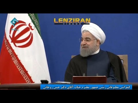 Question of foreign reporters about Syria , Russia & Trump in Hassan Rouhani press conference