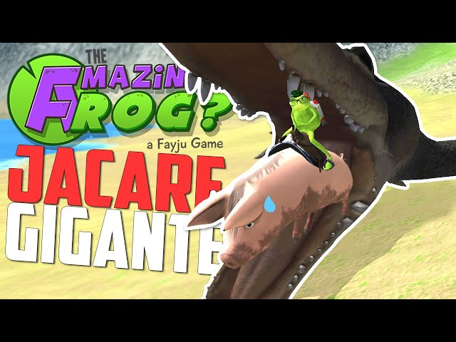 Crocodilho Gigante e Escola Aerea! - Amazing Frog