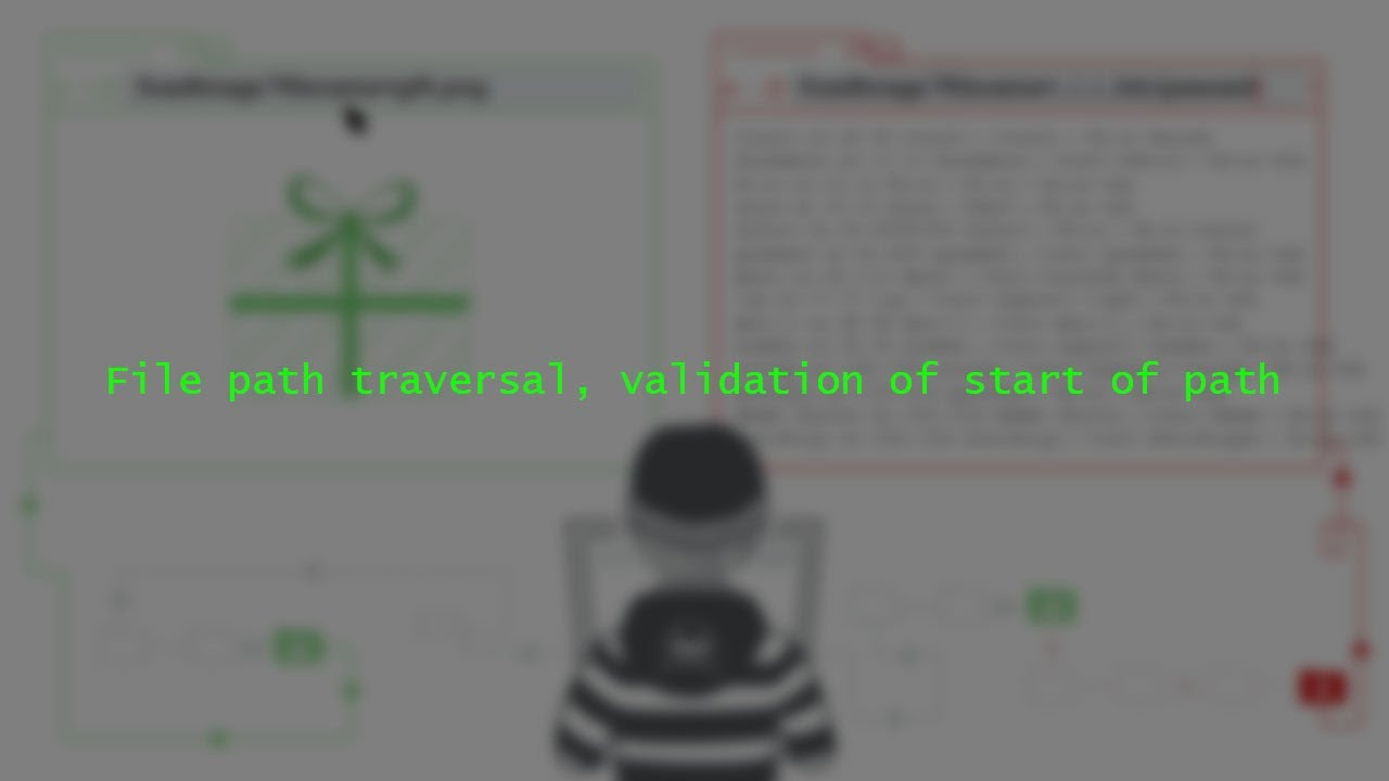 File path traversal, validation of start of path (Solution)  White Hat