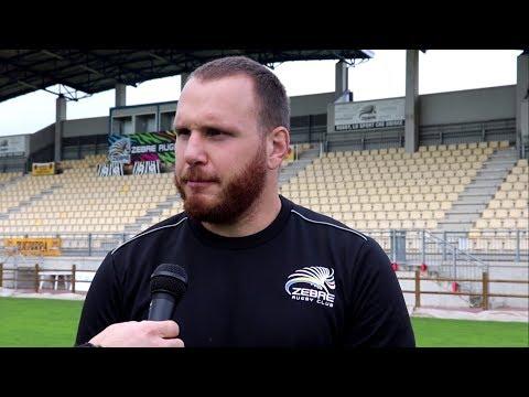 Andrea Lovotti è pronto a vestire nuovamente la maglia delle Zebre contro i Glasgow Warriors