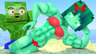 Top all Minecraft Life of Muscles & love Zomma ZomBo 2 | muscular girls and boy |Minecraft Animation