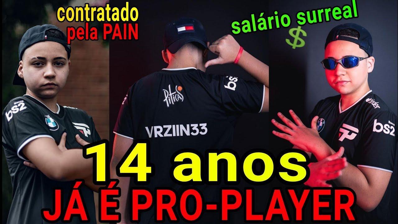 CRIANÇA CONTRATADA PARA SER PRO-PLAYER COM APENAS 14 ANOS COM SALÁRIO SURREAL!!!!!!