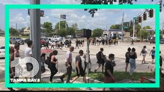 Demonstrators block portions of roads in Tampa, Sarasota during Fourth of July protests