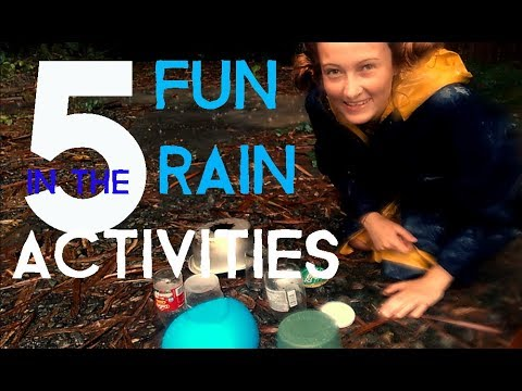 5 RAINY DAY ACTIVITIES for Kids OUTDOORS!