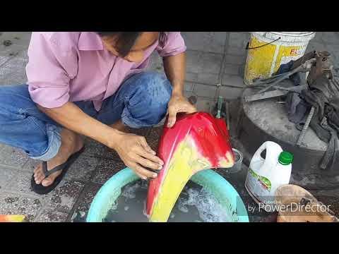 Tân Trang Sơn Xe Máy/Sơn Màu đỏ đô AB Cho Xe Wave