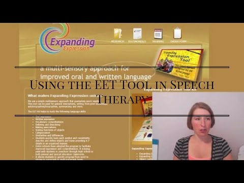 Using the EET Tool in Speech Therapy