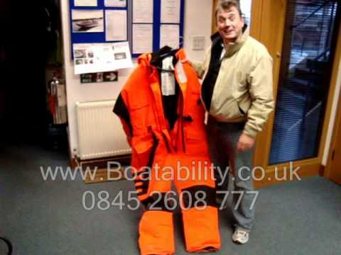 Powerboating Equipment - Safety At Sea Floatation Suit.wmv