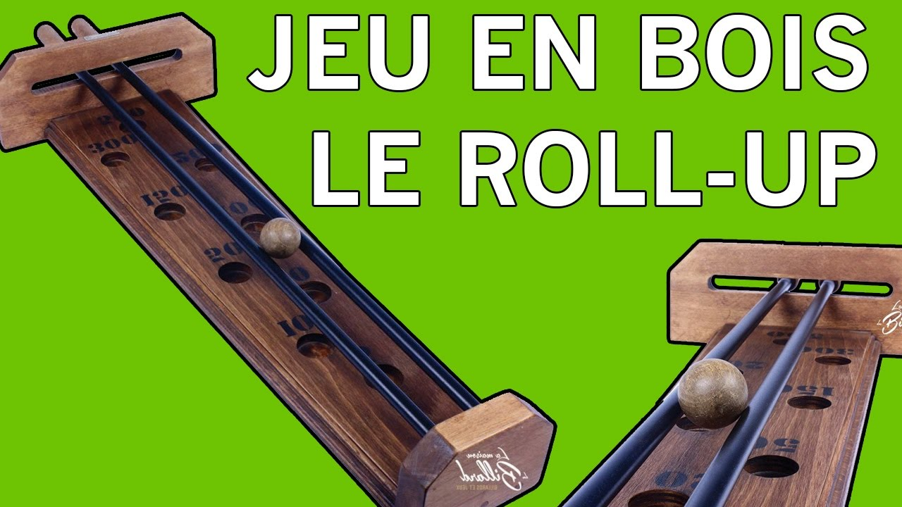 jeu en bois le roll up youtube. Black Bedroom Furniture Sets. Home Design Ideas