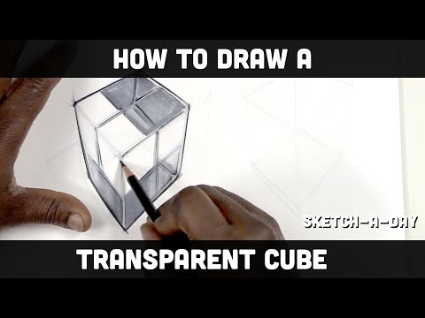 How to draw a transparent cube