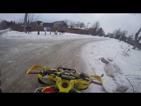 На квадроцикле зимой