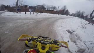 На квадроцикле зимой часть 1