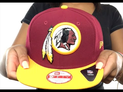Redskins  LOGO GRAND REDUX SNAPBACK  Burgundy-Gold Hat by New Era ... f5cb82bd8