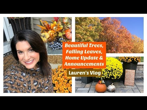 Beautiful Trees, Falling Leaves, Home Update & Announcement | 2019