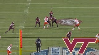 Virginia Tech Fake Punt: Jump Shot Pass Works For 1st Down vs. Clemson