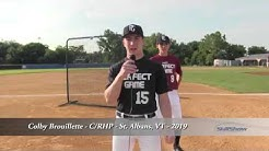 Colby Brouillette - C/RHP - St. Albans, VT - 2019