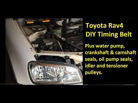 1996 – 2000 Toyota Rav4 DIY Replace Timing Belt, Water Pump, Front Seals, Oil Seals, Pulleys