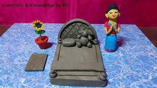 Amazing technique make DIY handmade bed || Mini clay bed ||  How to make miniature clay bed