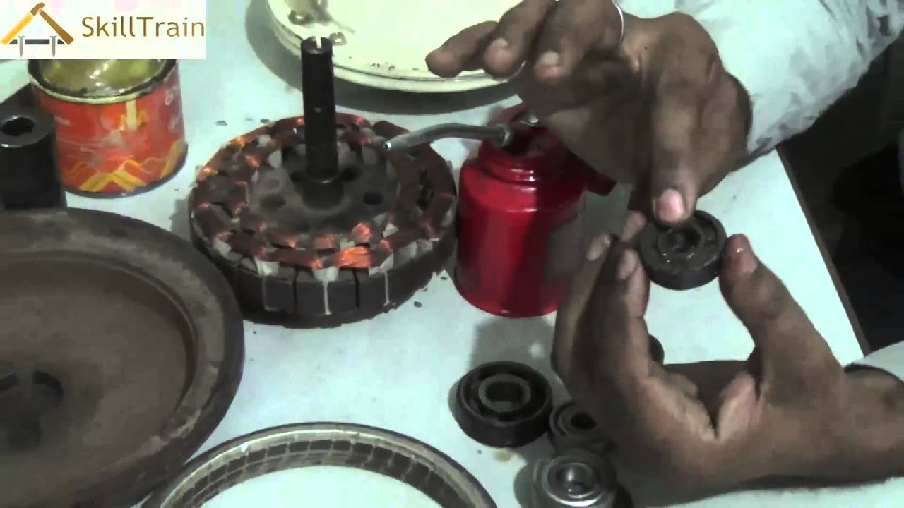 Learning To Oil And Grease The Ball Bearing Hindi ह न द. Replace Ceiling Fan  Ball Bearing