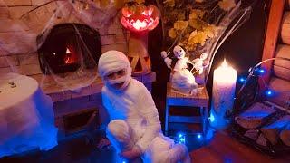 DIY Halloween  Украшение комнаты !! Угощения ! Волшебство на Хеллоуин