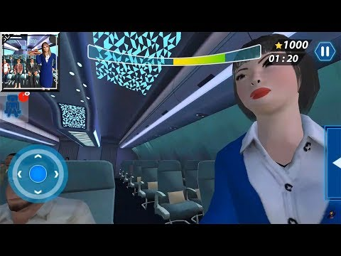 Airport Staff Flight Attendant Air Hostess Games (by Games Stop Studio) / Android Gameplay HD