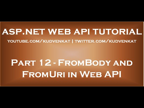 FromBody and FromUri in Web API
