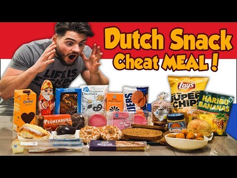 Big DUTCH Snack CHEATMEAL | Food Challenge (7500+ calories) | Man VS Food