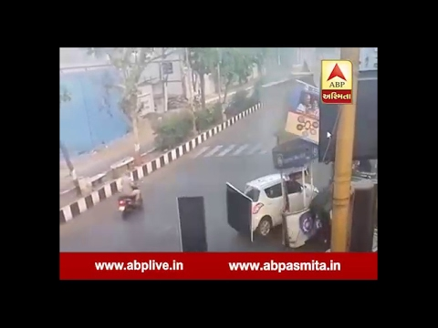 Surat : Truck Accident With School Rickshaw, Watch CCTV