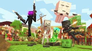 Monster School: EPIC ZOMBIE APOCALYPSE CHALLENGE - Minecraft Animation