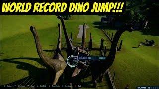 Jurassic World Record Dino Jump!!!