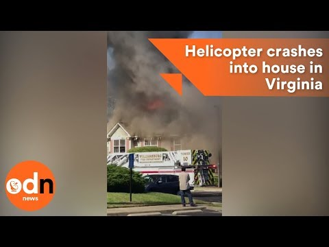 Helicopter vs. Crashes Into House In Virginia