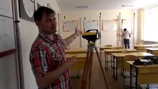 Работа с цифровым нивелиром Leica Sprinter: геометрическое нивелирование.