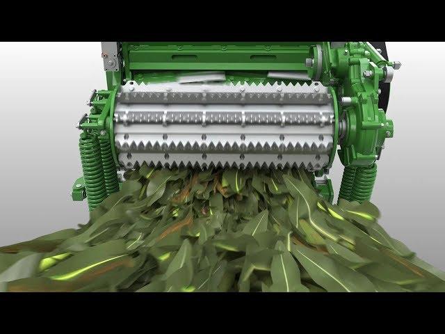 Zelfrijdende Veldhakselaar 9000-Serie | Gewasstroom animatie John Deere