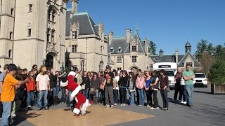Dancing Santa - B-boy Santa Sneak Attack in Asheville, NC