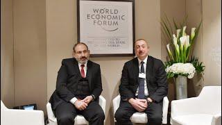 İlham Əliyev və Paşinyan Davosda görüşüblər