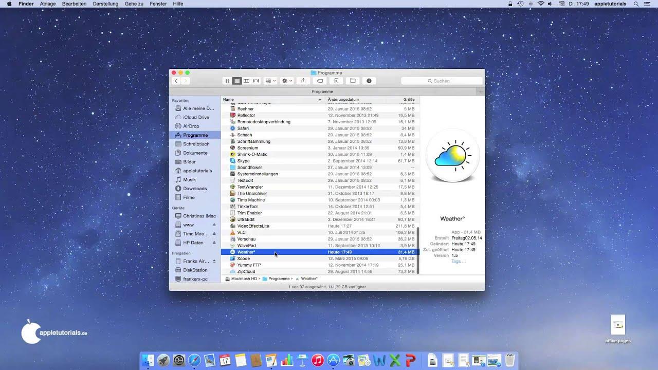 Programme unter Mac OS X installieren - Mac für Anfänger