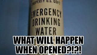 Opening 1960 can of emergency drinking water!!?!?