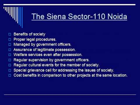 The Siena Luxurious Builder Floors Sector-110 Noida